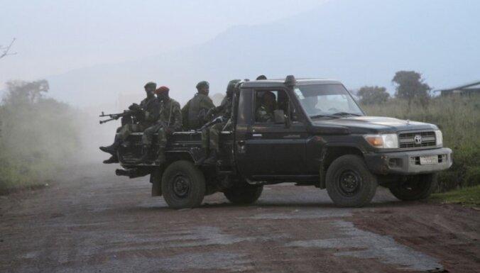 Kongo DR un Ruandas spēki sākuši kauju nolaupīta kaprāļa dēļ