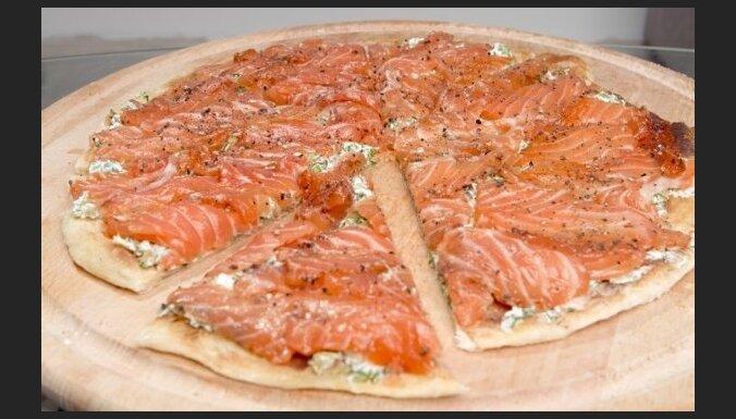Рецепт от Жени Гаврилова: пицца с лососем (фоторецепт)