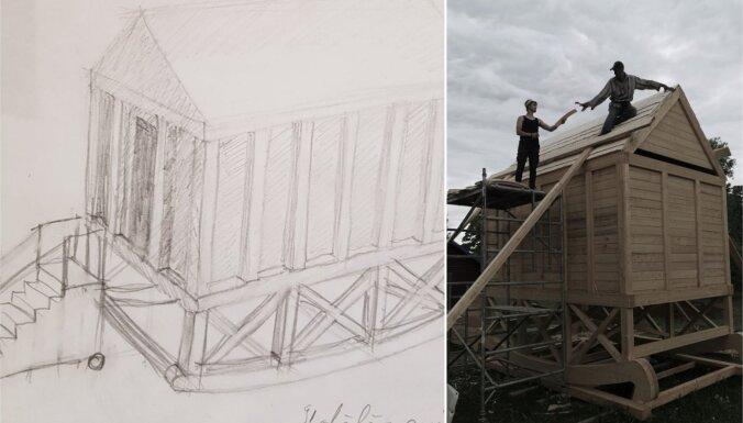 Esplanādē atklās Aigara Bikšes veidotu objektu 'Globālās sasilšanas templis'