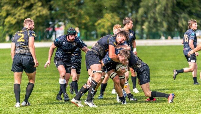 'Miesnieki' ar uzvaru iesildās Latvijas grandu duelim