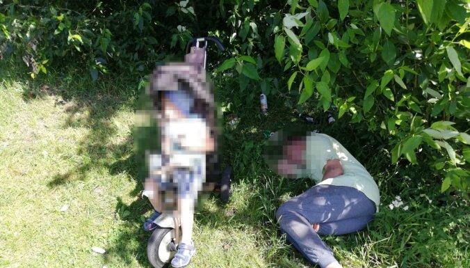 Плявниеки: у пьяного отца, спящего под деревом, забрали 3-летнего ребенка