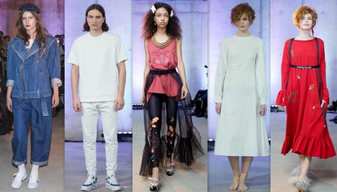 Rīgas modes nedēļas otrā diena: spilgtas detaļas pret absolūtu vienkāršību