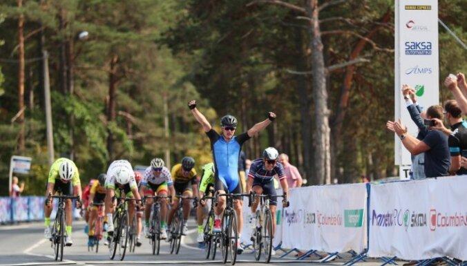 Liepiņš spraigā finiša spurtā finišē otrais 'Baltic Chain tour' pirmajā posmā