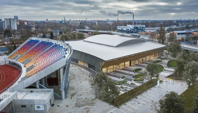 Uzsākta Daugavas stadiona ledus halles būvniecība