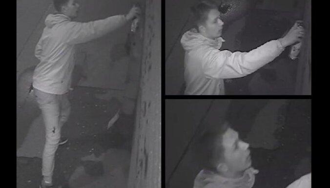 Полиция просит опознать подозреваемого в вандализме
