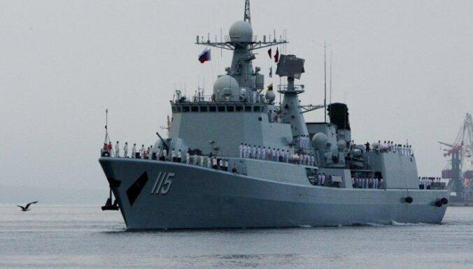 Россия и Китай проводят крупнейшие военно-морские учения