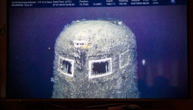 Norvēģi nofotografē nogrimušo PSRS atomzemūdeni 'Komsomoļec'; konstatē radiācijas noplūdi