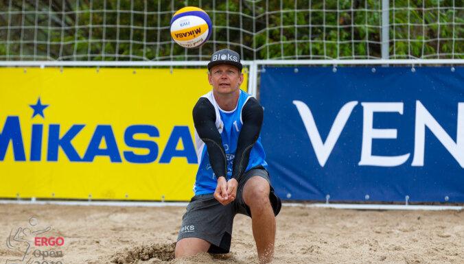 Latvijas pludmales volejbola čempionāta 'Ergo Open 2020' Ventspils posma vēstneši – brāļi Šmēdiņi