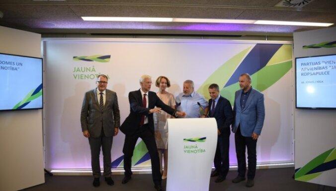'Jaunā Vienotība' vēl nenosauc līderus Saeimas vēlēšanās