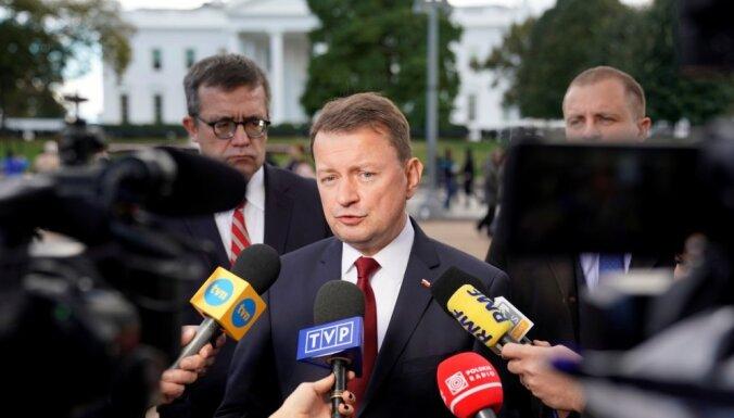 Vašingtonā ir atbalsts ASV bāzes izveidošanai Polijā, paziņo Polijas aizsardzības ministrs