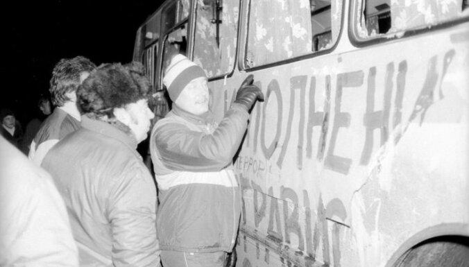 #Ziņas 1991: Veidojas pašaizsardzības vienības un krīt Tirānas Staļins