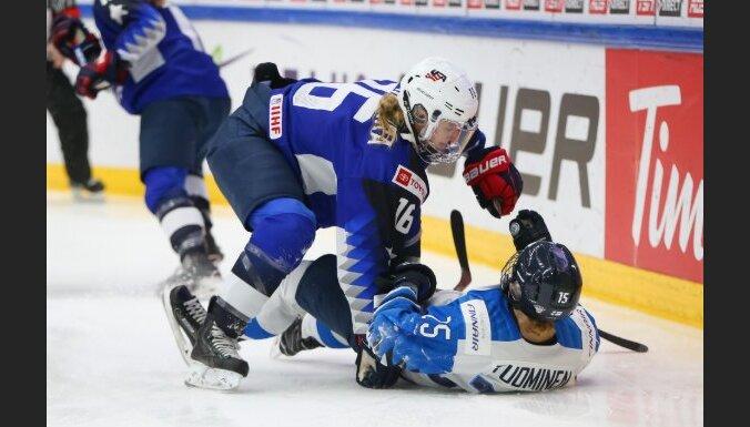 ASV hokejistes pasaules čempionāta finālā vien 'bullīšos' salauž Somijas pretestību