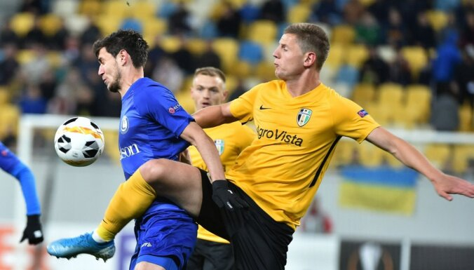 Pārtraukta tomēr arī Ukrainas futbola premjerlīgas sezona