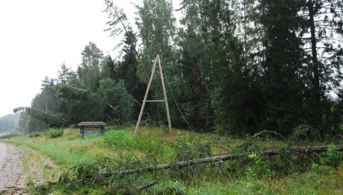 Vētras dēļ valsts austrumos bez elektrības 10 000 mājsaimniecību