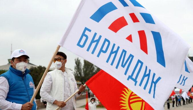В Бишкеке тысячи людей протестуют против результатов выборов в парламент