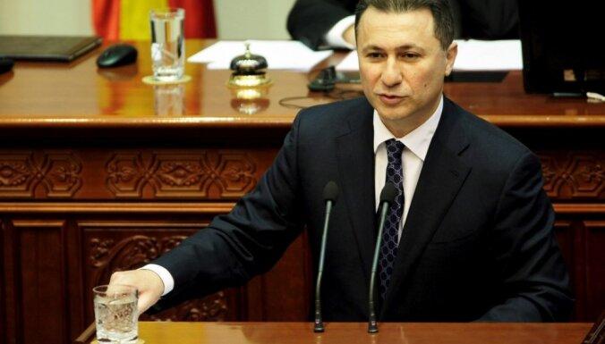 Maķedonijas ekspremjeram par korupciju piespriež divus gadus cietumā