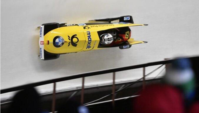 Foto: Siguldas posms bobslejā un skeletonā sākas ar olimpiskās čempiones Jamankas uzvaru