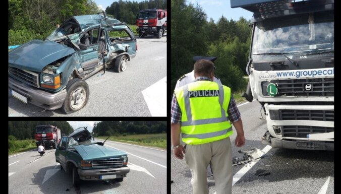 Uz Tallinas šosejas smagā avārijā četri bojāgājušie