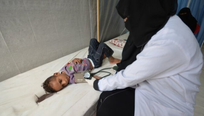 Jemenā pagājušajā mēnesī no holeras miruši teju 600 cilvēku