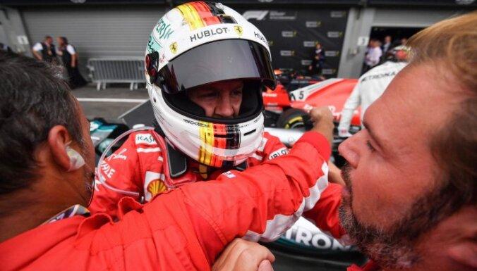 Феттель выиграл Гран-при Бельгии после серьезной аварии на первом круге