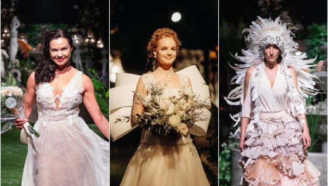 Foto: Populāras latvietes izrāda greznas līgavu kleitas