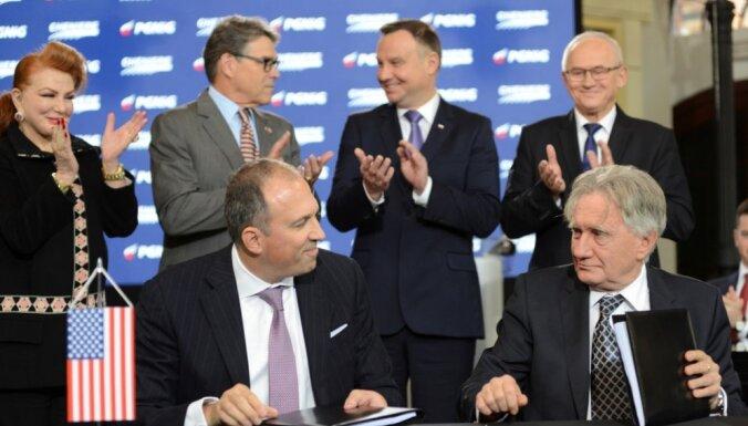 Polija paraksta otru vienošanos par sašķidrinātās dabasgāzes piegādēm no ASV