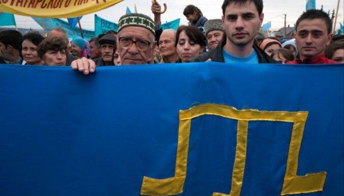 Krievijas policija veic reidus Krimas tatāru telekanāla birojos