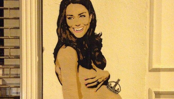 ФОТО: В Лондоне появилось граффити голой беременной Кейт Миддлтон