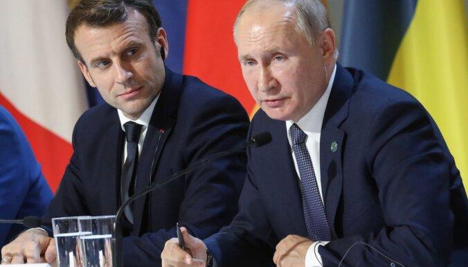 """МИД Франции расследует утечку разговора Макрона и Путина о """"латвийском следе"""""""