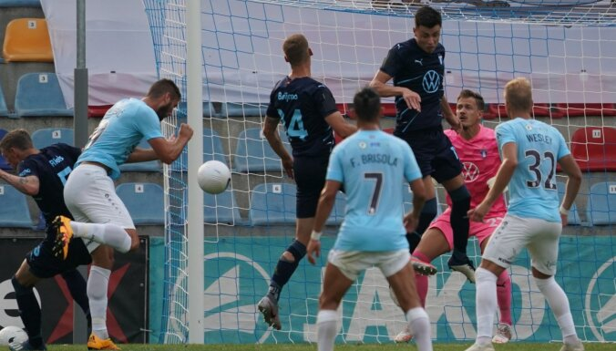'Riga' Čempionu līgas kvalifikācijā spēlē neizšķirti 'Malmo' un nesasniedz otro kārtu