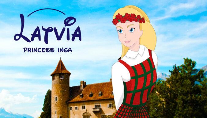 ФОТО: Инга, которая любит хоккей. У Латвии появилась своя диснеевская принцесса