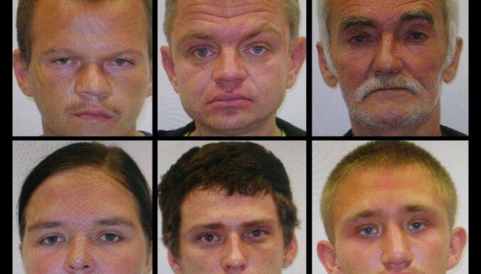 Policija aiztur sešus laupītājus; aicina atsaukties cietušos