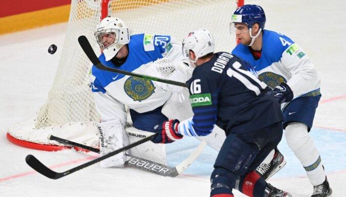 ASV hokejisti ar 'sauso' uzvaru piebremzē Kazahstānas izlasi