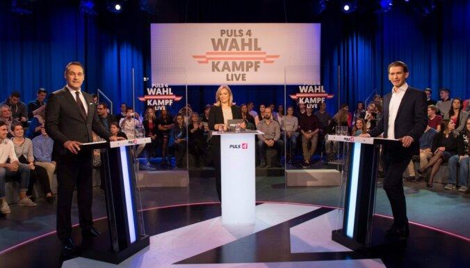 Austrijas politiskie smagsvari priekšvēlēšanu debatēs metas savstarpējos apvainojumos