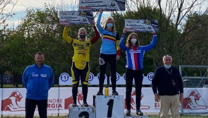 Pētersonei otrā vieta BMX sacensībās Itālijā