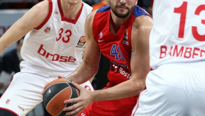 Kurbanov, J.Strelnieks Euroleague basketball, Bamberg vs CSKA