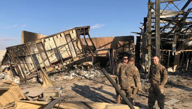 Irānas triecienā bāzei Irākā tomēr cietuši ASV karavīri
