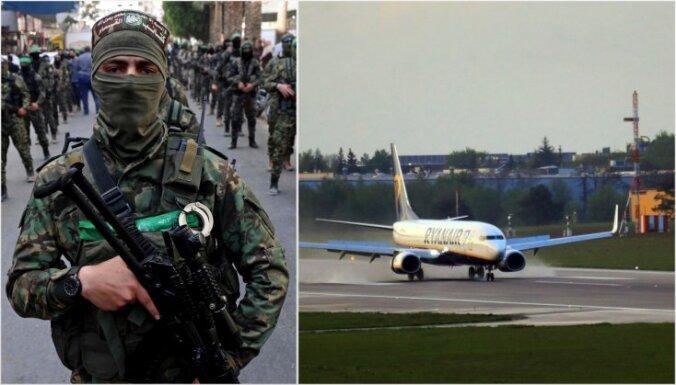 Lidmašīnu spridzināt draudēja 'Hamas', apgalvo Minska; kaujinieku organizācija saistību noliedz