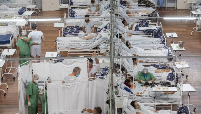 Covid-19: Veselības aprūpes sistēmas Brazīlijas lielpilsētās ir tuvu sabrukumam, liecina ziņojums