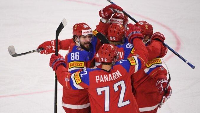 Pasaules hokeja čempionātā sākas izslēgšanas spēles