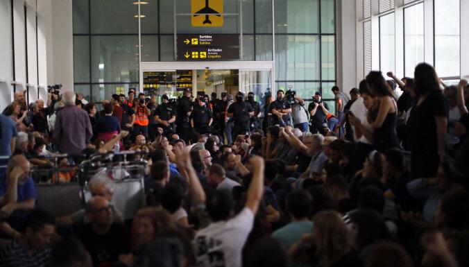 Жители Каталонии вышли на протесты после приговора сепаратистам