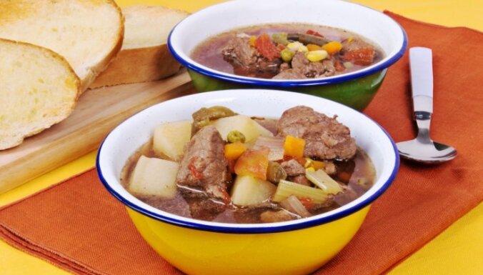 Meža gaļas - dārzeņu zupa