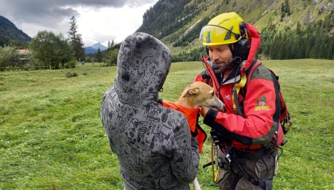 ЧП в Альпах: туристка из Латвии упала с 60-метровой высоты, спасатели помогли найти в горах ее собаку