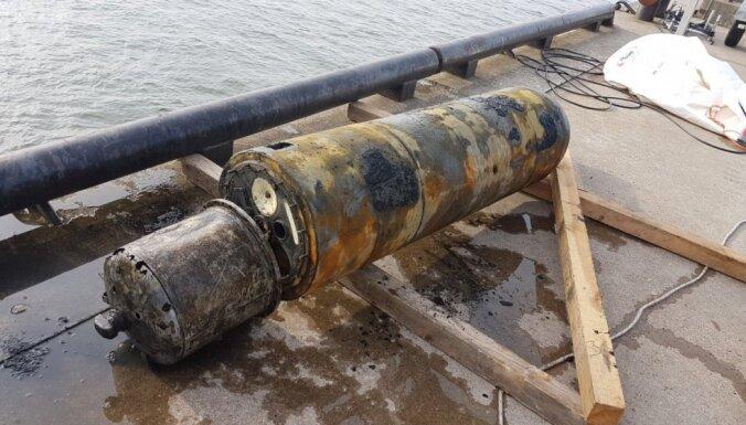 В Лиепайском порту обнаружили советскую учебную мину весом 500 кг