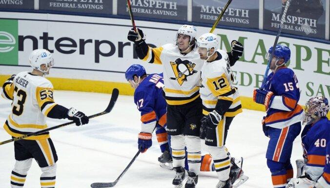 Bļugers atkal rezultatīvs; Krosbija 'bullītis' izrauj 'Penguins' komandai uzvaru