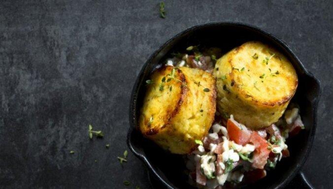 Sāļie kartupeļu un biezpiena kēksiņi