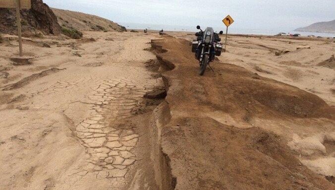 Latviešu motociklistu piedzīvojumi Dienvidamerikā – Dakāras rallijs, kalnu pārejas, pelikāni un žurkas