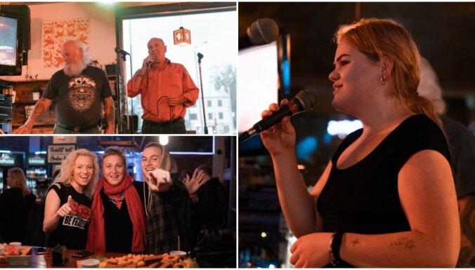 Foto: Karaokes čempionāts Kalnciema ielas 'Ezītī'