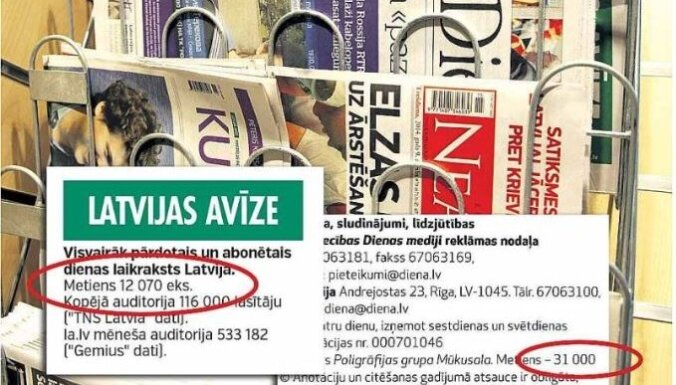 Latvijas Avīze: Greizās tirāžas maldina sabiedrību