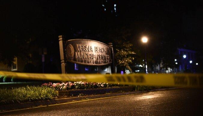 Bruņots vīrietis Virdžīnijā nošauj vismaz 12 cilvēkus